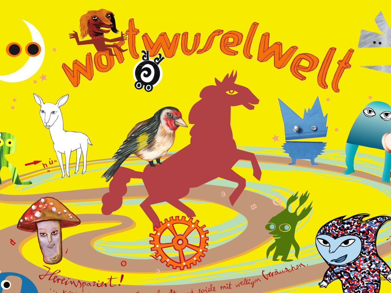 Screenshot von http://www.wortwusel.net/