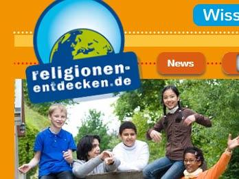 Screenshot von https://www.religionen-entdecken.de/