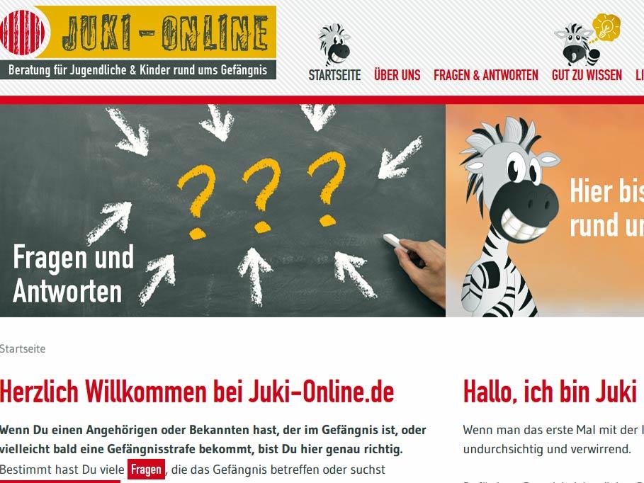 Screenshot von http://juki-online.de/