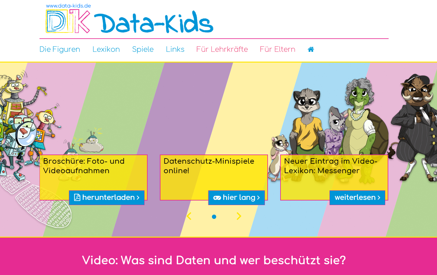 Screenshot von https://data-kids.de/